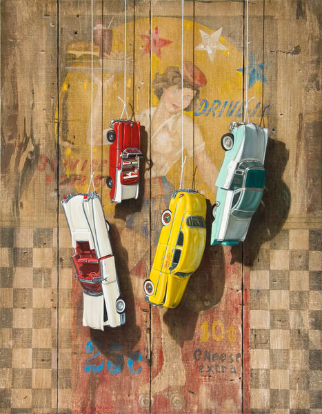 Hanging Out At The Drive In Art | Richard Hall Fine Art
