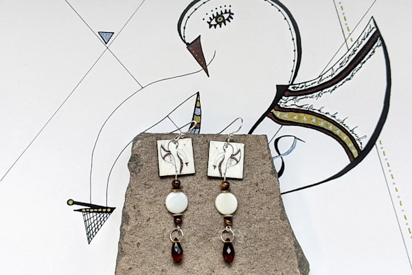 Thursday's Child No. 3 Earrings | Loree Harrell Art