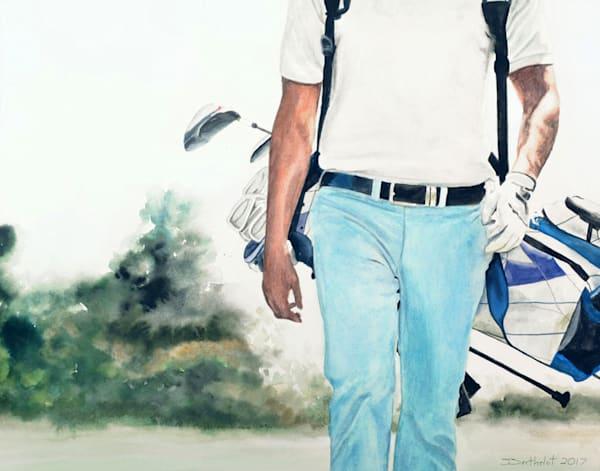 Golfer Art   Julie Berthelot