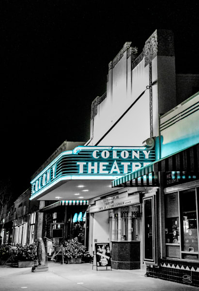 The Colony Theater Photography Art   Cid Roberts Photography LLC