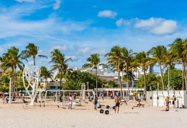 Beach Gym, Miami Beach Photography Art   Cid Roberts Photography LLC