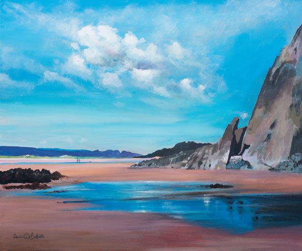 Three Cliffs Art Print