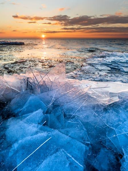 Shattered Ice Shards along Lake Superior (Vertical)