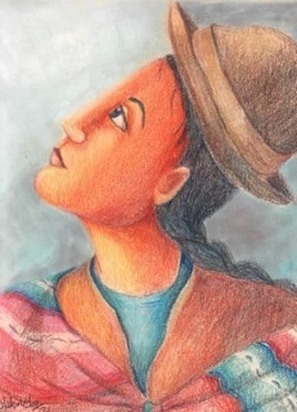Portrait Of An Andean Woman Art | womanoftheandes