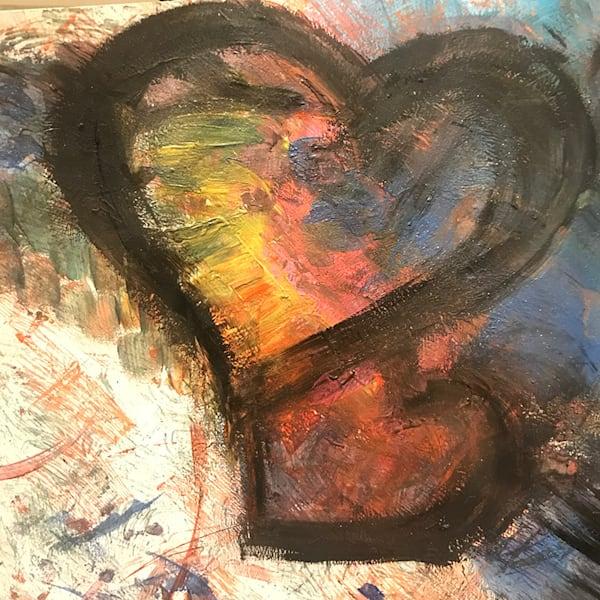 Heart Art5   Hugging Hearts, 2021 Art | Artist Rachel Goldsmith, LLC