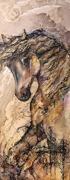 Spirited   Wild Horse Original Painting Art | Christy! Studios