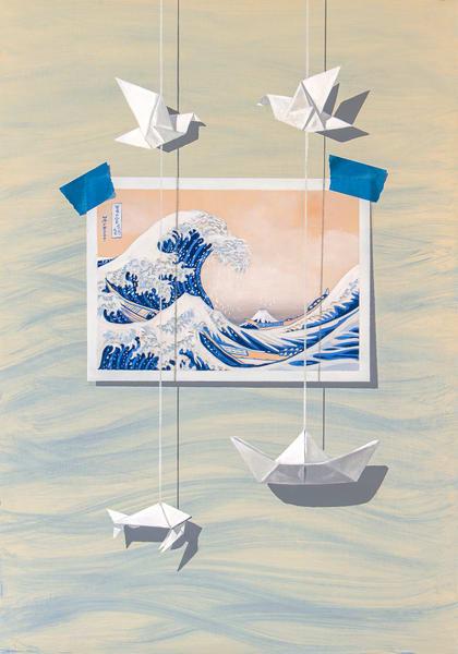 Riding The Wave Art | Richard Hall Fine Art