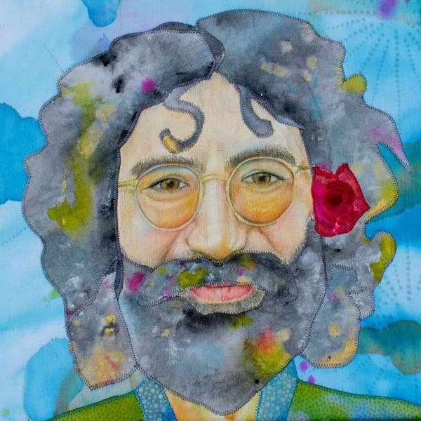 Jerry Garcia Fabric Portrait