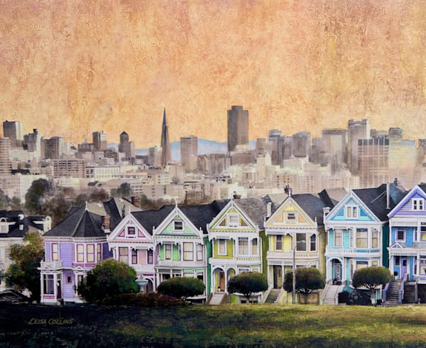The Painted Ladies Of San Francisco Art   Leisa Collins Art