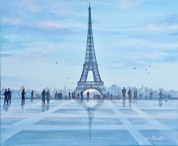 Rainy Day At Eiffel Tower  Art   Leisa Collins Art