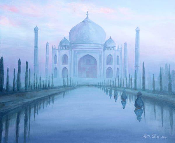 Taj Mahal Through The Mist Art   Leisa Collins Art