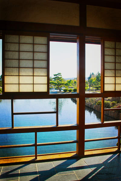 japanese, architecture, framed, view, horticulture, therapy, water, flow, jackierobbinsstudio, photographicprints, buyartonline