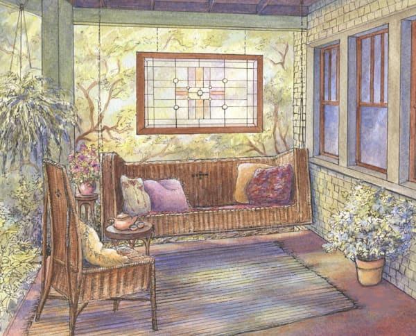 Tea Time On The Porch Art | Leisa Collins Art