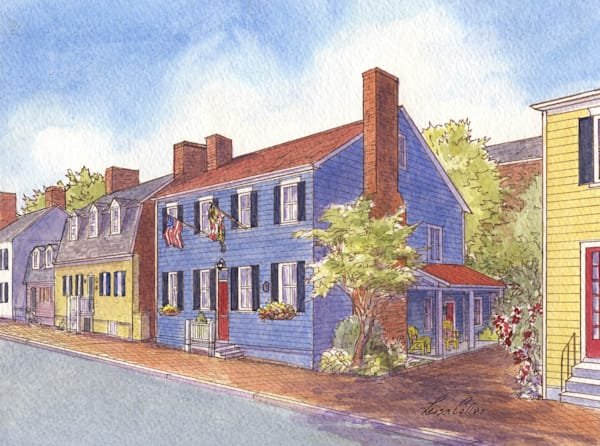 Annapolis Maryland Heritage Homes Art | Leisa Collins Art