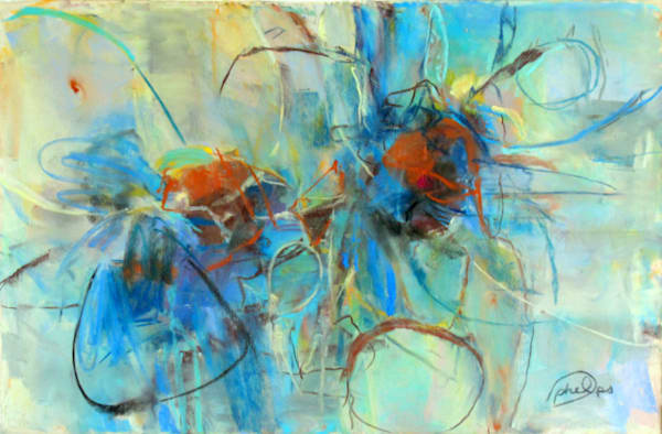 Paula Phelps, Scattered Thoughts, Pastel