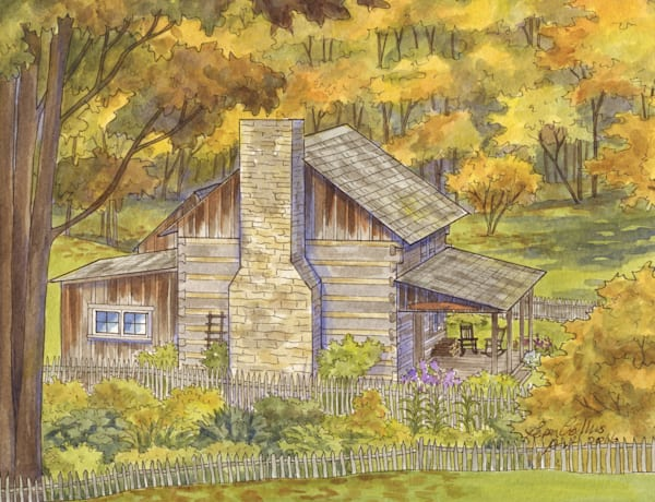 High Winds, West Virginia Historic Cabin Art | Leisa Collins Art