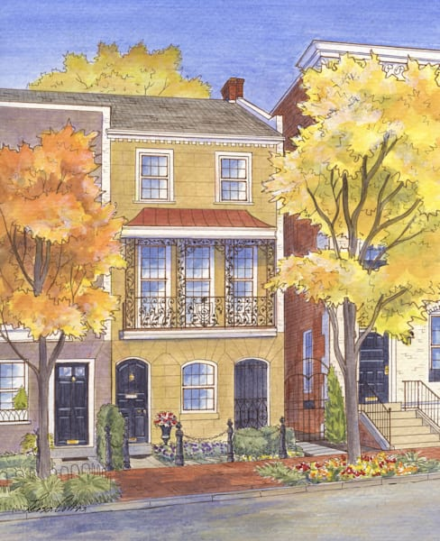 Washington Dc In The Fall Art | Leisa Collins Art