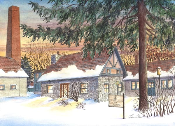 Roycroft Campus In The Snow, New York Art | Leisa Collins Art