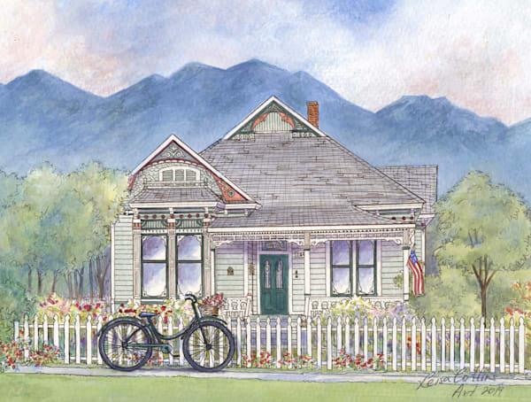 Biking With Flowers Art | Leisa Collins Art