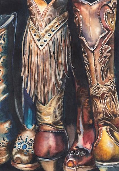 Lori Pitten Jenkins, Boot Camp, Watercolor