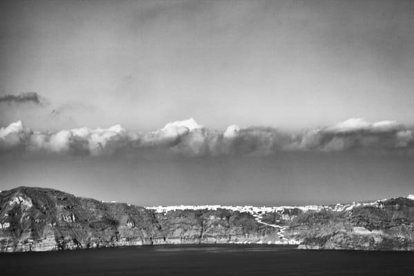 Santorini From Afar Photography Art | Carol's Little World