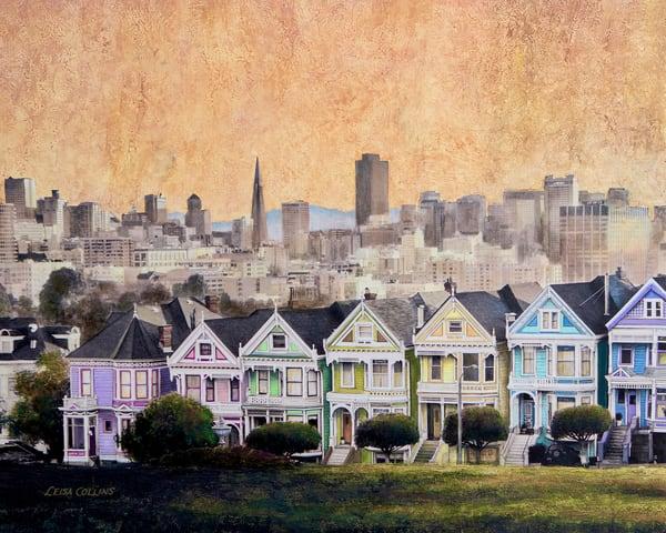 The Painted Ladies Of San Francisco Art | Leisa Collins Art