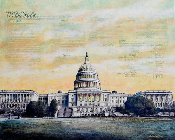 We The People ... Capitol Building Art | Leisa Collins Art