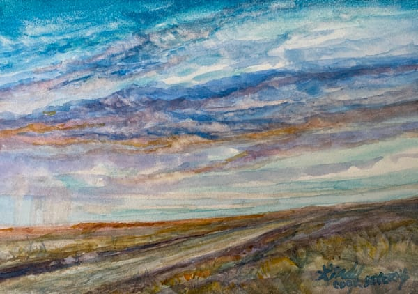 Lindy Cook Severns Art | West Texas Horizon, original watercolor