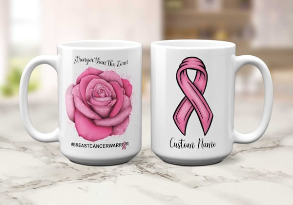 Breast Cancer Warrior Mug