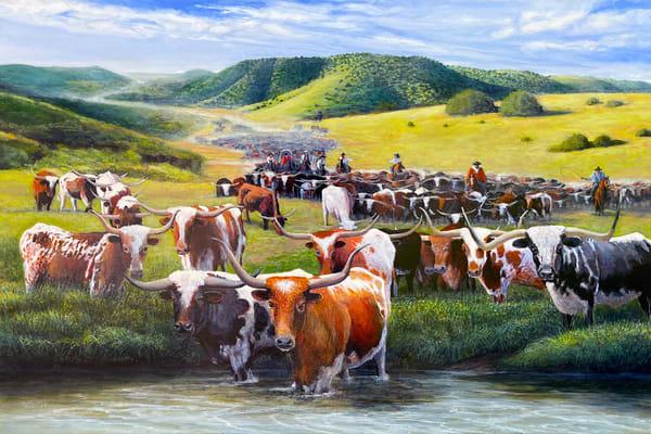 Crossing The Trinity River Towards The Chislom Trail  Art | Charles Wallis