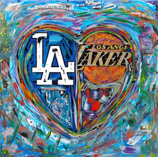 LA Love | Sports Art | JD Shultz Art