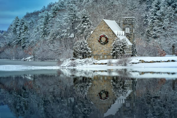 Newfallen Snow at the Old Stone Church | Shop Photography by Rick Berk