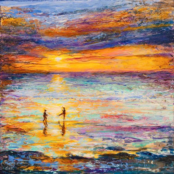 Karate On The Beach Art | darzart
