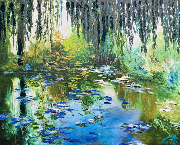 Memory Of Monet   Oil Embellished Giclée Art   Tessa Nicole Art