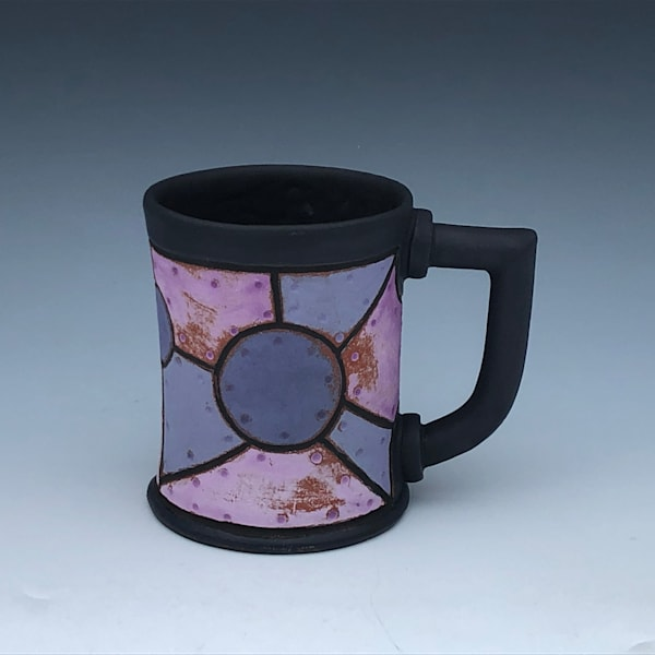 Purple Riveted Metal Mug, Black Glaze | Gerard Ferrari LLC