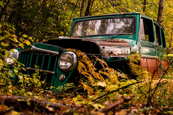 Tom Weager Photography - decaying truck in the forest