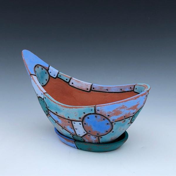 Medium Blue Flower Pot | Gerard Ferrari LLC