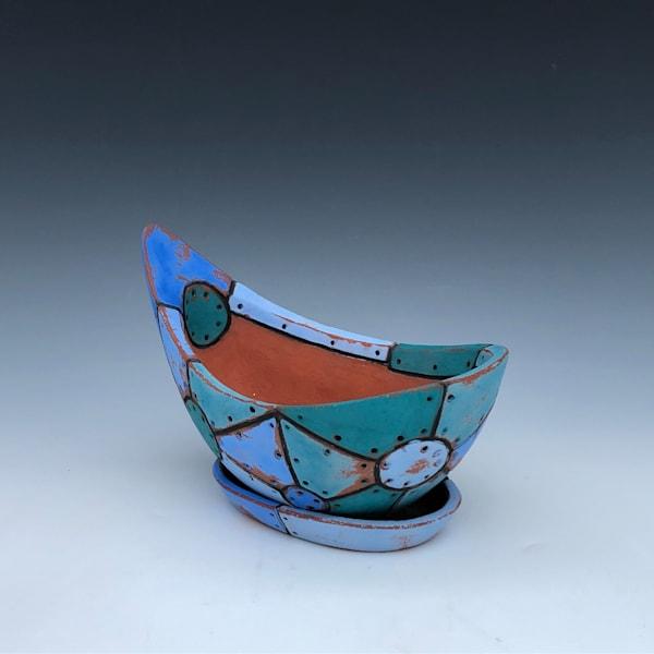 Small Blue Flower Pot | Gerard Ferrari LLC