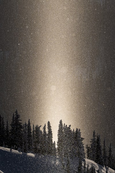 Tom Weager Photography - Light Pillar in the alpine of BC