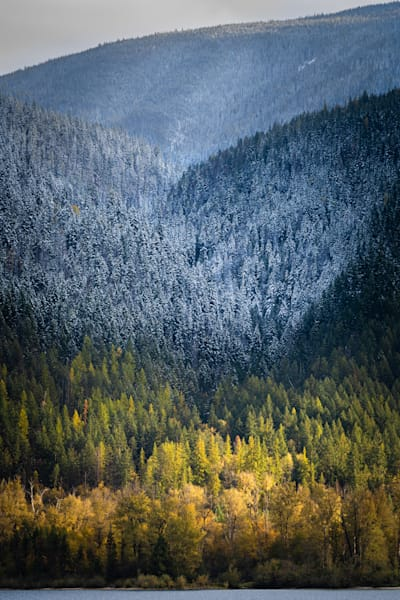 Tom Weager Photography - October snowfall on the shores of Kootenay Lake