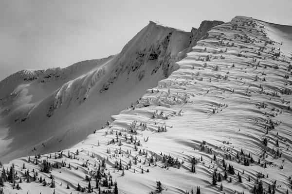 Tom Weager Photography - Windswept Ymir Peak in winter
