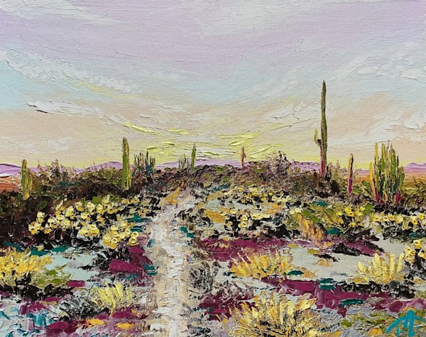Path For The Lost   Oil Embellished Giclée Art   Tessa Nicole Art