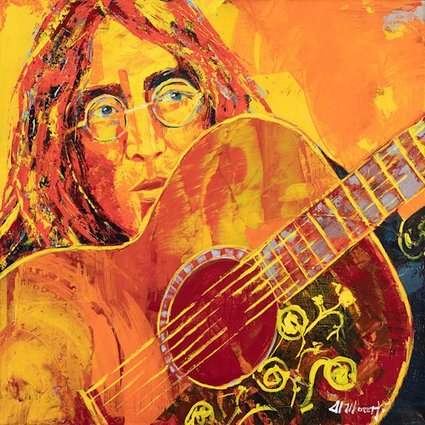 """""""Working Class Hero"""" John Lennon Portrait by Al Moretti"""