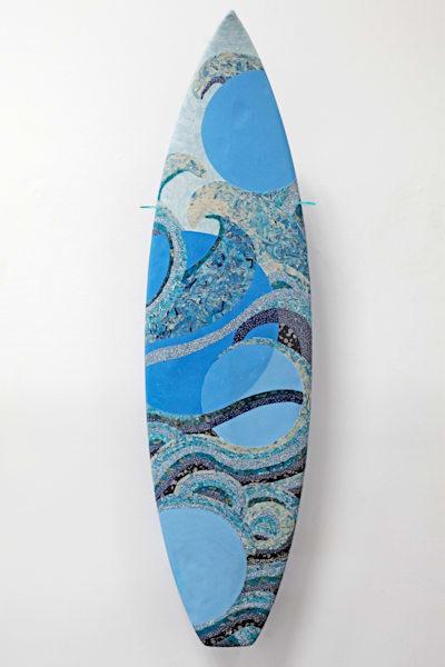 Mosaic Waves Art | Kichaven Art