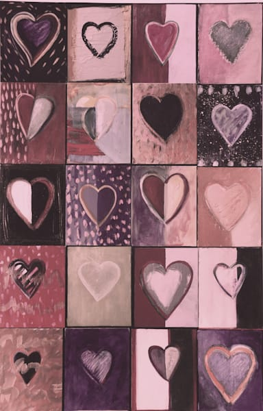 Piece Of My Heart: Pinks Art | All Together Art, Inc Jane Runyeon Works of Art
