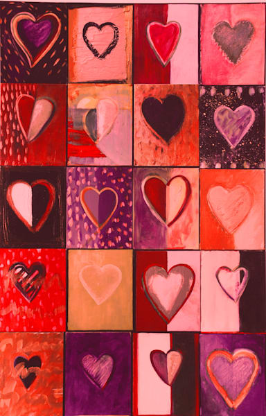 Piece Of My Heart: Reds Art | All Together Art, Inc Jane Runyeon Works of Art