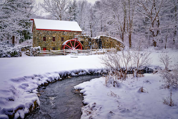 Fresh Snow on the Grist Mill | Shop Photography by Rick Berk
