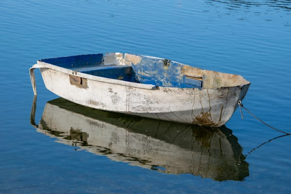 Dinghy Reflection Photography Art | The Colors of Chatham