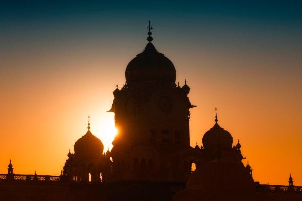 Golden Temple Sunset Photography Art | nancyney