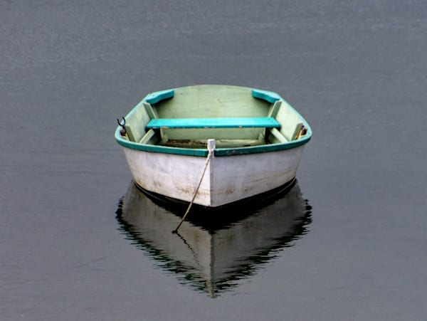Dinghy On Mill Pond Photography Art | The Colors of Chatham